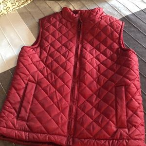 Boys Rich Red Gymboree Quilted Vest M 7 8 Fleece